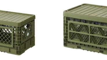 ロゴスの収納ボックス「たためるストロングコンテナ」はミリタリー好きには最高ですよ