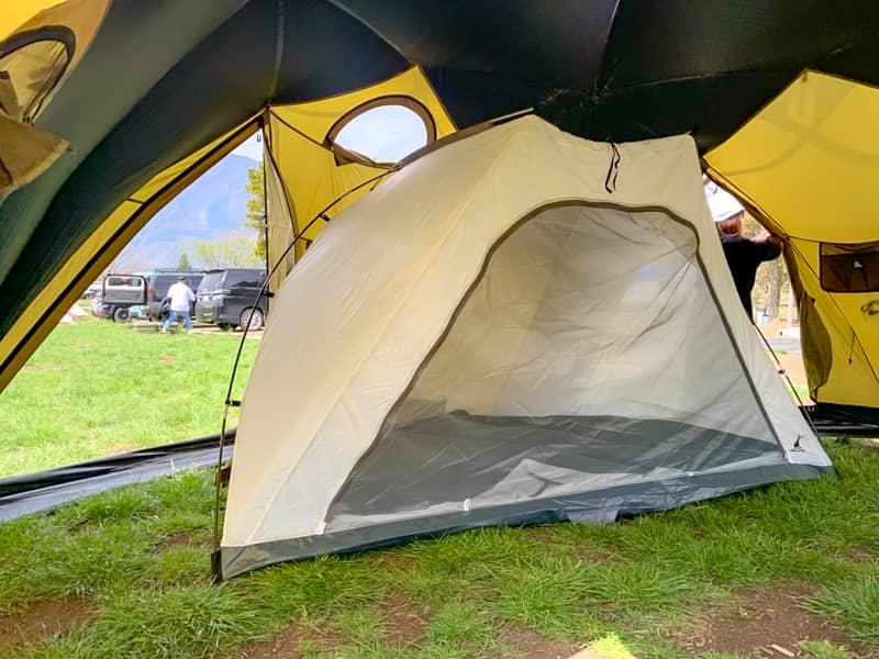 インナーテントだけでも使用できる自立式テントであるところが