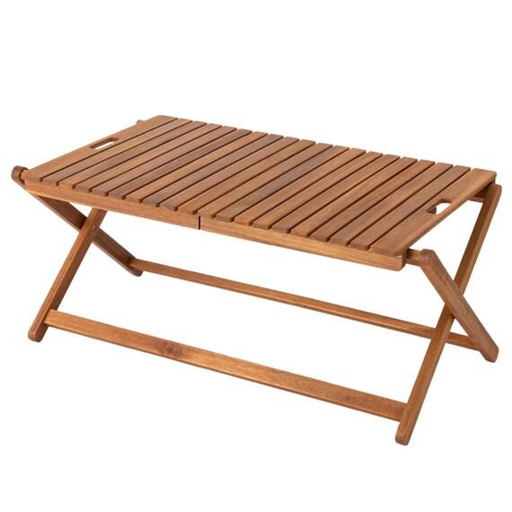 木製折りたたみローテーブル