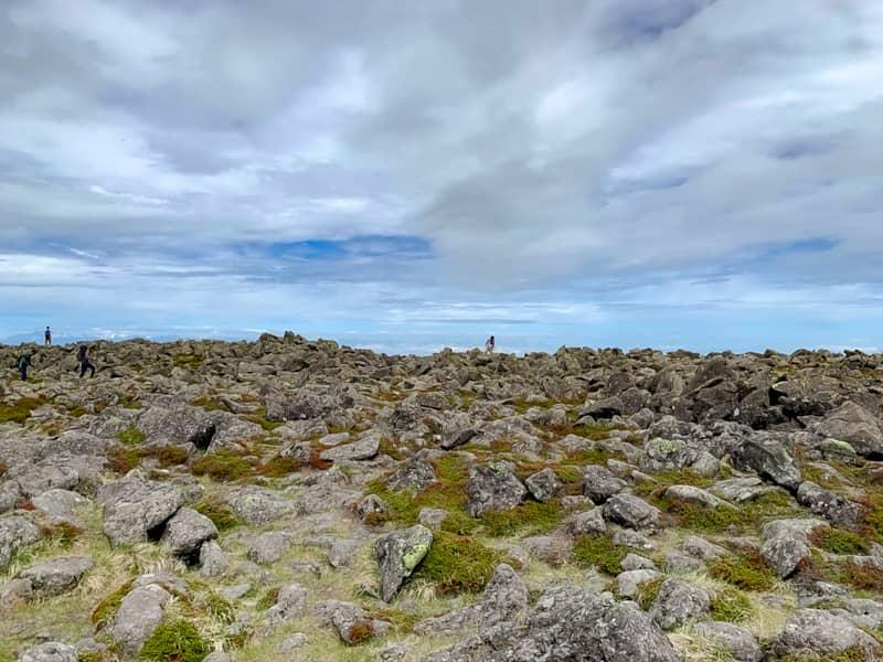 直径100メートル程度の山頂は