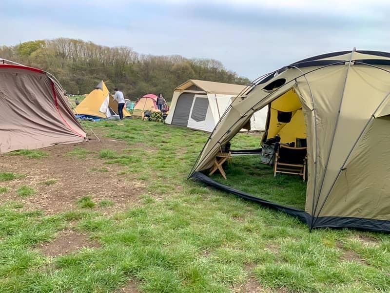 超巨大テントを使うと