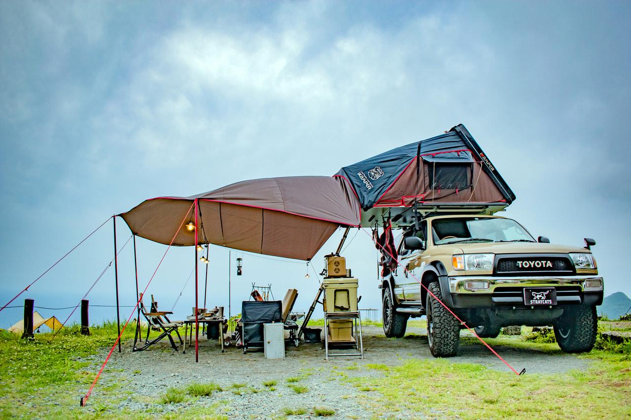 【これ全部レンタルです】カスタムカー+ルーフテントで憧れの「映えキャンプ」を体験しよう!