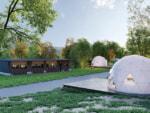 山梨県都留市に初めてのドームテント大型グランピング施設【THE FOREST】7月21日オープン