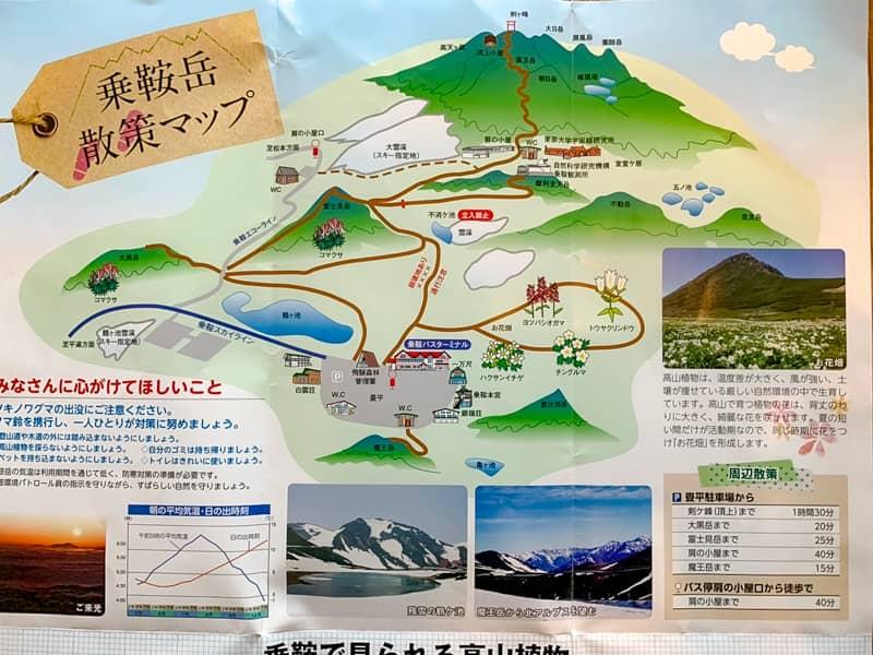 「乗鞍岳」登山コース