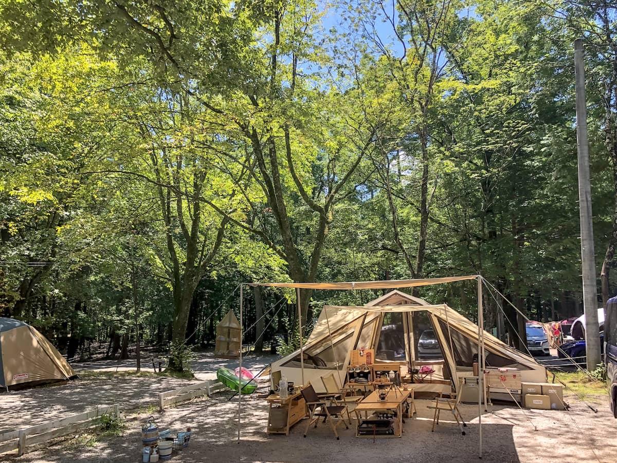 思いっきり自然に触れ合える水と森の体験基地「べるが尾白の森キャンプ場」