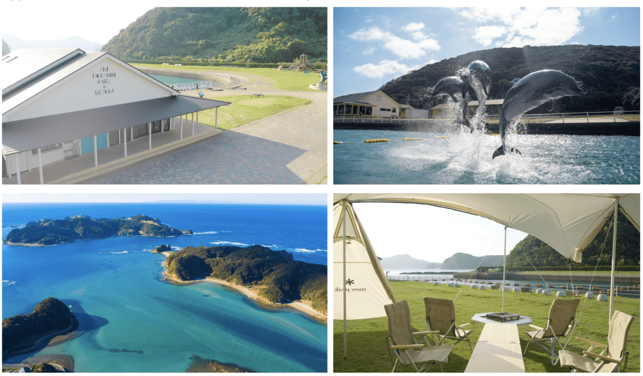 長崎・壱峻島で1日1組限定の「イルカと触れあえるグランピング」がスタート!