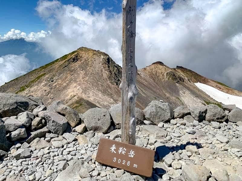 乗鞍岳最高峰、剣ヶ峰(けんがみね)山頂です