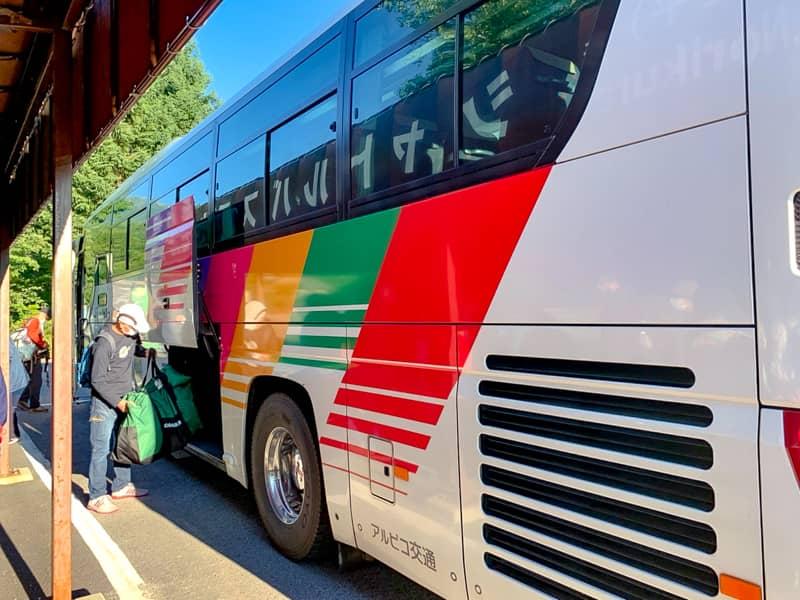 乗鞍高原~乗鞍畳平シャトルバスの運行時間は約1時間に1本ペースです