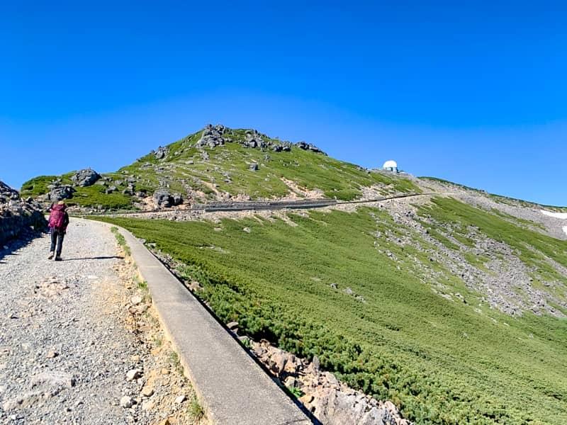 富士見岳分岐から肩の小屋を目指す