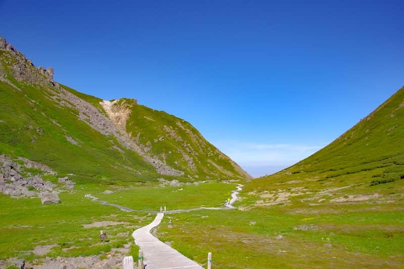 登山開始から3分でこの景色です