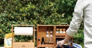 キャンプのキッチンはこれで決まり!木製スパイスボックス&キッチンペーパーボックスが登場!