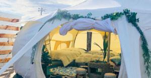 南房総の夕日を眺める1日3組限定のグランピング施設「LOTUS NIGHT」がオープン!