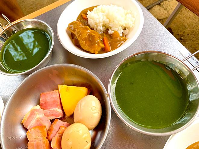 プレミアムキャンプめし-ほうれん草スープ