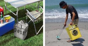 1つあると便利!ゴミ箱にもなるトートバッグ「ルー・ガービッジ」新商品2サイズが登場!