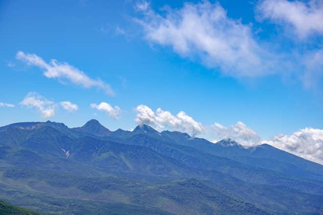 八ヶ岳については北横岳南峰からのほうが美しく見えます