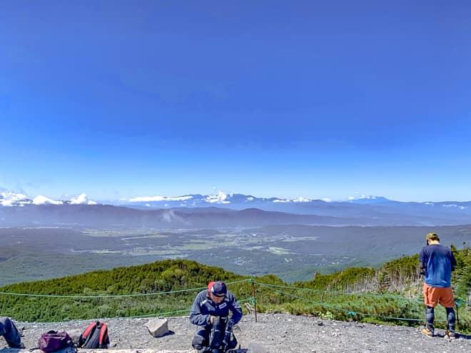 北横岳南峰山頂からの展望