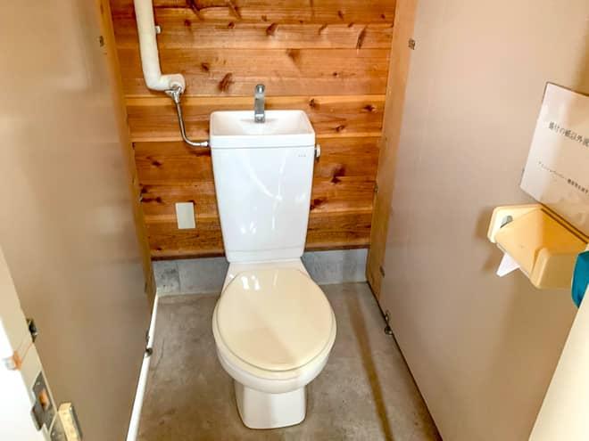 トイレの数は十分です