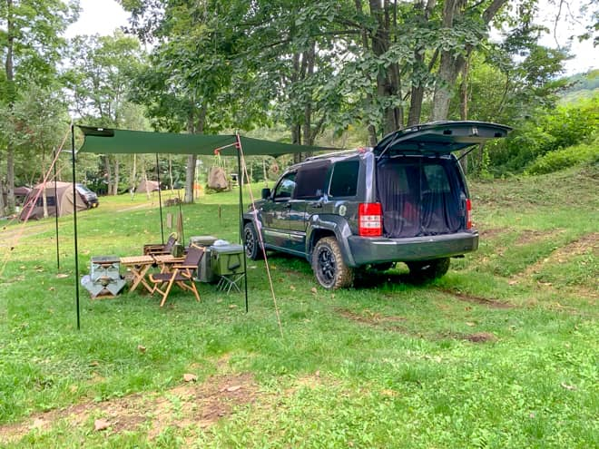 バランスの取れたキャンプ場
