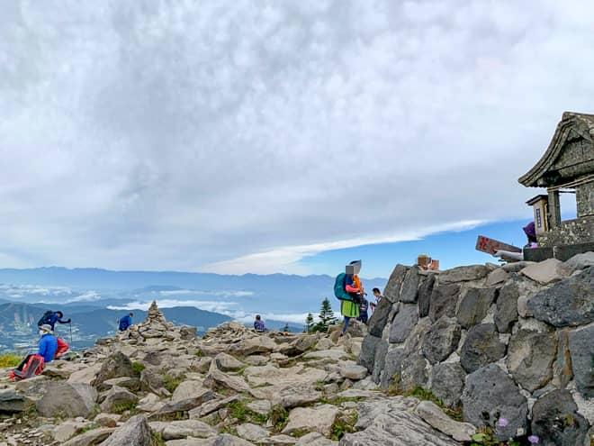 山頂からの景色が絶景