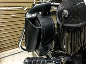 Amazonで購入したエンジンガード用バッグを取り付けてみたところ