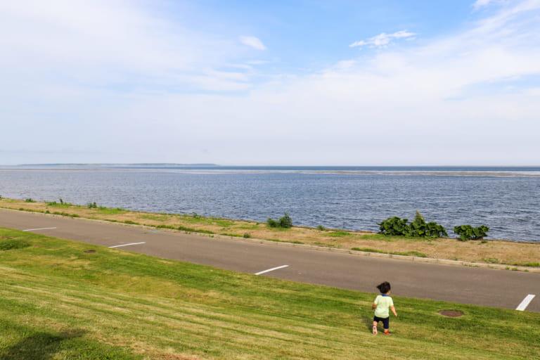 野付湾の眺め